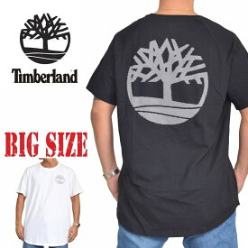 ティンバーランド 半袖 ロゴ Tシャツ ラウンド ロング丈 ブラック 黒 ホワイト 白 USA直輸入 Timberland XL XXL 大きいサイズ メンズ あす楽