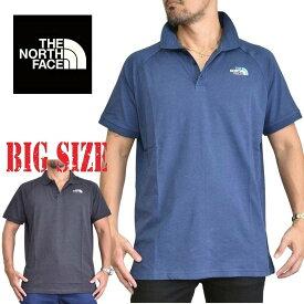 ノースフェイス THE NORTH FACE 半袖 ポロシャツ ラグラン S/S ワンポイント刺繍 ヨーロッパライン 海外限定 ネイビーブルー XL XXL 大きいサイズ メンズ あす楽