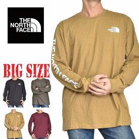 ノースフェイス THE NORTH FACE ロンT 長袖 Tシャツ アーム ロゴ USAモデル XL XXL 大きいサイズ メンズ [M便 1/1]