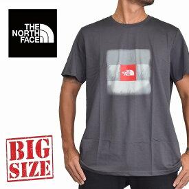 ノースフェイス 半袖 ロゴプリント Tシャツ Reissue ヨーロッパライン 海外限定 チャコールグレー XL XXL 大きいサイズ メンズ [M便 1/1]