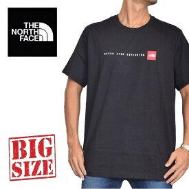 ノースフェイス 半袖 ロゴプリント Tシャツ Nse EUライン 海外限定 黒 XL XXL 大きいサイズ メンズ [M便 1/1]