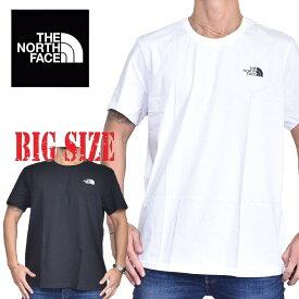 ノースフェイス 半袖 ロゴプリント Tシャツ Simple Dome ワンポイント EUライン 海外モデル 黒 白 S M L XL XXL 大きいサイズ メンズ [M便 1/1]