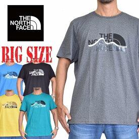 ノースフェイス 半袖 ロゴプリント Tシャツ MOUNTAIN LINE EUライン 海外モデル 黒 白 [M便 1/1] XL XXL 大きいサイズ メンズ