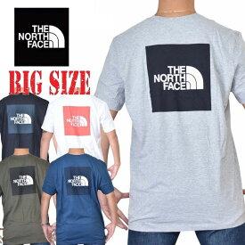 ノースフェイス 半袖 Tシャツ BOX TEE ボックスロゴ バックプリント ブラック ホワイト グレー XL XXL THE NORTH FACE 大きいサイズ メンズ [M便 1/1]