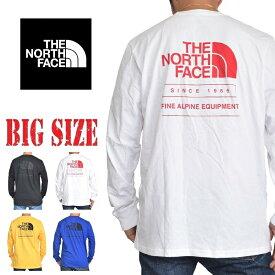 ノースフェイス THE NORTH FACE バックロゴ ロンT 長袖 Tシャツ THROWBACK USAモデル 黒 白 黄 青 STANDARD FIT XL XXL 大きいサイズ メンズ あす楽
