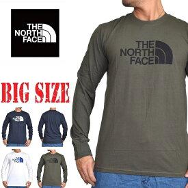 ノースフェイス ロンT 長袖 Tシャツ ハーフドーム USAモデル STANDARD FIT THE NORTH FACE M L XL XXL XXXL 大きいサイズ メンズ あす楽