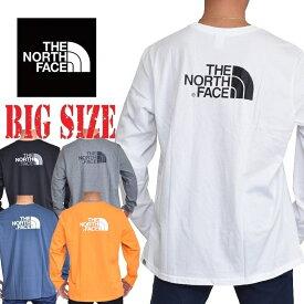 ノースフェイス ロンT 長袖 Tシャツ ハーフドーム バックプリント ヨーロッパライン 海外限定 THE NORTH FACE XL XXL 大きいサイズ メンズ あす楽