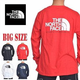ノースフェイス THE NORTH FACE バックロゴ ロンT 長袖 Tシャツ ハーフドーム USAモデル 黒 白 赤 STANDARD FIT XL XXL 大きいサイズ メンズ あす楽