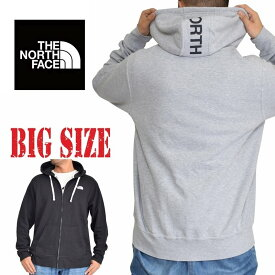 ノースフェイス パーカー USAモデル XL XXL M L パーカー フルジップ ワンポイント フードロゴ 裏起毛 スウェット 黒 ブラック グレー 大きいサイズ メンズ あす楽