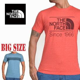 ノースフェイス THE NORTH FACE S/S TEE 半袖 ロゴプリント Tシャツ SLIM FIT XL XXL S M L レッド 赤 USAモデル 大きいサイズ メンズ あす楽