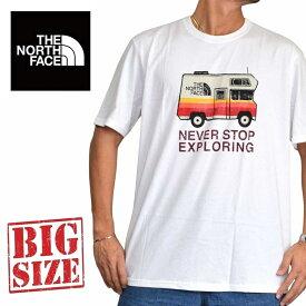 ノースフェイス 半袖 ロゴプリント Tシャツ USAモデル XL XXL 白 ホワイト THE NORTH FACE STANDARD FIT 大きいサイズ メンズ あす楽