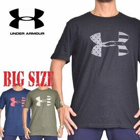 アンダーアーマー UNDAR ARMOUR 半袖 ロゴ Tシャツ 黒 ブラック ネイビー オリーブ [M便 1/1] XL XXL XXXL 大きいサイズ メンズ
