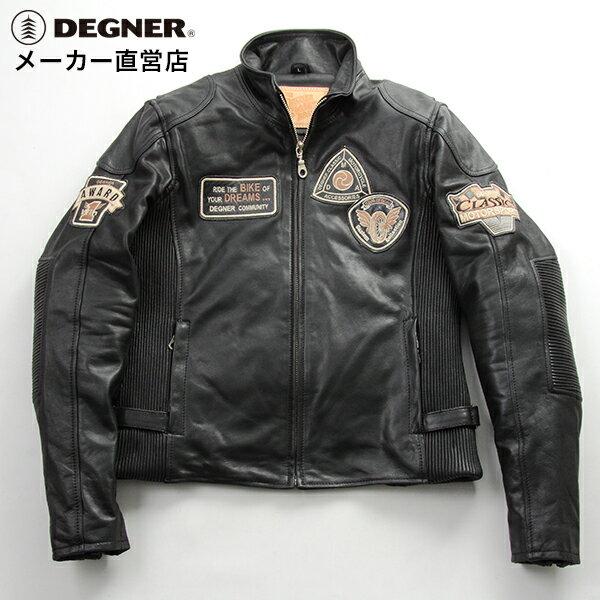 レザージャケット レディース 本革 防寒 バイク ジャケット ライダース ジャケット レザージャケット 防風 デグナー DEGNER DG16WJ-6 ブラック