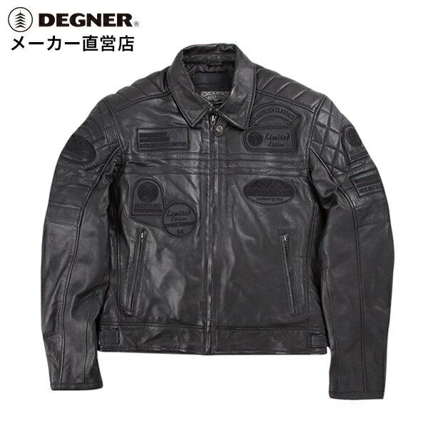 レザージャケット 革ジャン バイク 冬 防風 防寒 メンズ ヴィンテージ ライダースジャケット 羊革 シープ ヴィンテージ LEATHER JACKET 黒 ブラック 送料無料 DEGNER デグナー 14WJ-3C