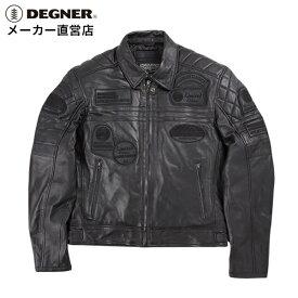 デグナー DEGNER レザージャケット 14WJ-3C メンズ 冬 防風 防寒 ライダース羊革 シープ 黒 ブラック