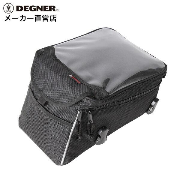 デグナー DEGNER ベルト式 タンクバッグ NB-147 ブラック マップル対応 スマホ ホルダー