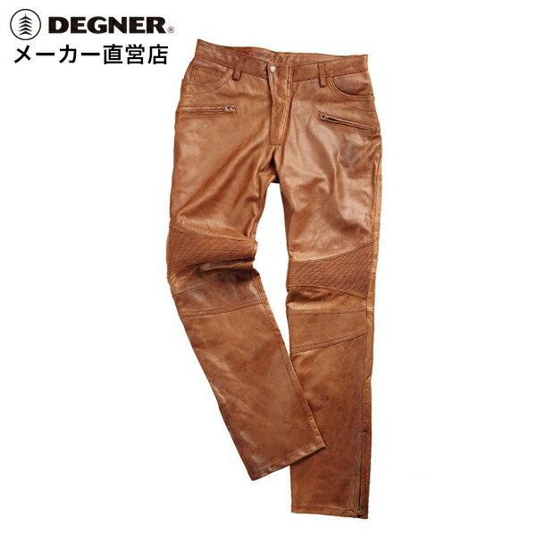 デグナー DEGNER レザーパンツ DP-23 メンズ ブラウンスキニー 羊革