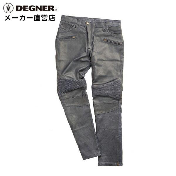 デグナー DEGNER レザーパンツ DP-23 メンズ ネイビー 羊革