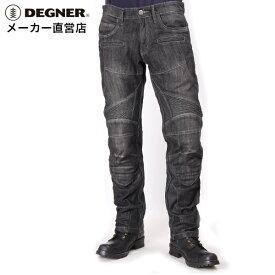 デグナー DEGNER ヒートガード付きデニムパンツ DP-27 デニム ブラック 牛革