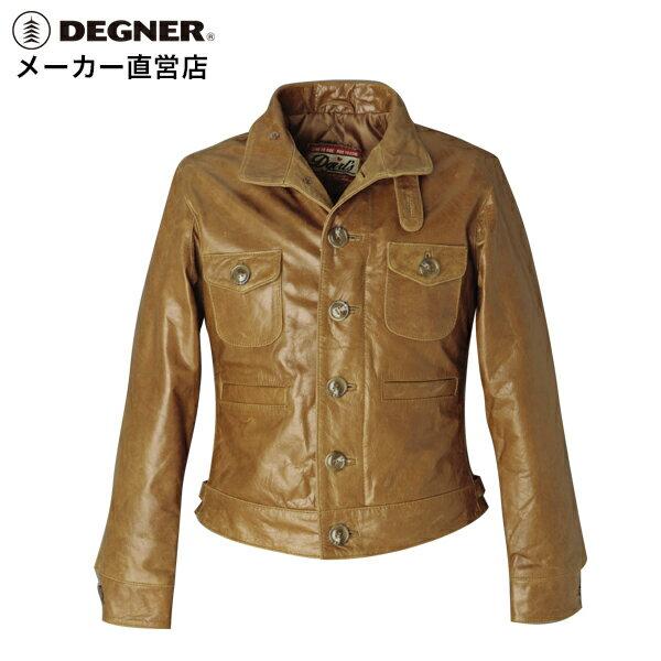 送料無料[DEGNER デグナー]レザー バイク 本革 トラッド スタイル ジャケットトラッドスタイルジャケット DG5WJ-2[DEGNER デグナー]