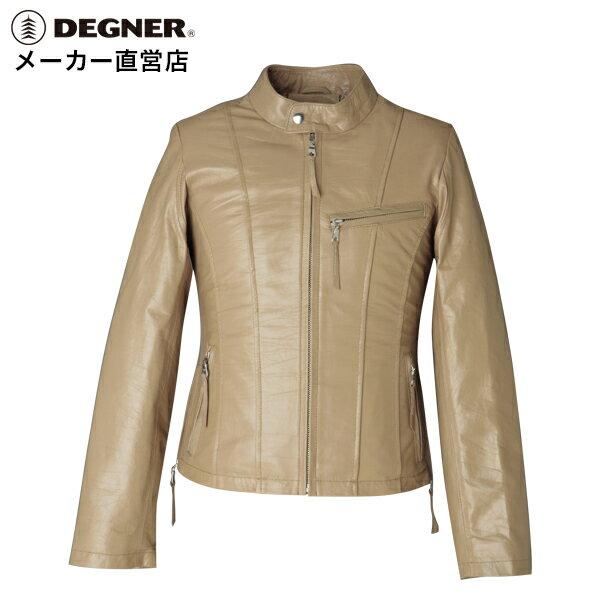 送料無料[DEGNER デグナー]レザー バイク 本革 シルエット ウエストラインシングルライダースジャケット DG6WJ-2DEGNER デグナー