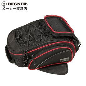 デグナー DEGNER タンクバッグ NB-118 ブラック レッドパイピング マグネット スマホ ホルダー