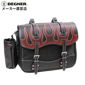デグナー DEGNER サイドバック NB-1F ヴィンテージレッド ファイアーパターン