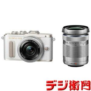 オリンパス 一眼デジタルカメラ OLYMPUS PEN E-PL8 EZダブルズームキット ホワイト /【Sサイズ】