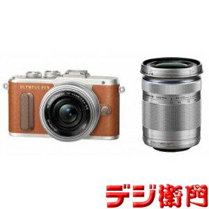 オリンパス 一眼デジタルカメラ OLYMPUS PEN E-PL8 EZダブルズームキット ブラウン /【Sサイズ】