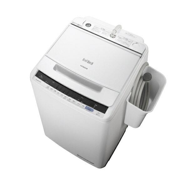 日立 8.0kg全自動洗濯機 オリジナル ビートウォッシュ ホワイト BWV80CE6W ※配送・設置は、最寄のエディオン配送センターよりお伺いいたします。[全国送料無料 ※一部地域を除く]