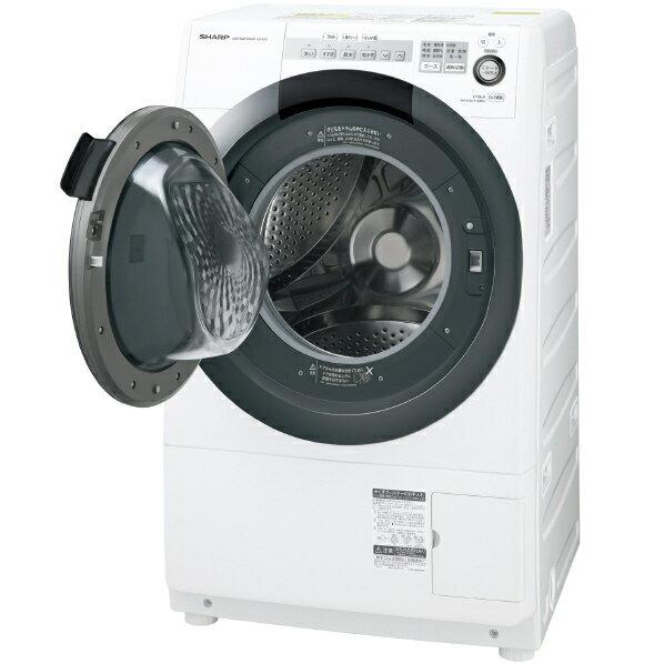 (お取り寄せ)シャープ 【左開き】7.0kgドラム式洗濯乾燥機 ホワイト系 ESS7CWL ※配送・設置は、最寄のエディオン配送センターよりお伺いいたします。[全国送料無料 ※一部地域を除く]