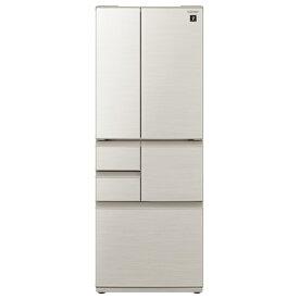 (エリア限定:お問い合わせください)シャープ SJ-F502E-S 502L 6ドアノンフロン冷蔵庫 プラズマクラスター シルバー [SJF502ES]  ※配送設置:最寄のエディオン商品センターよりお伺い致します。[※サービスエリア外は別途配送手数料が掛かります]