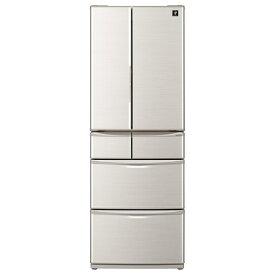 シャープ SJ-F462E-S 455L 6ドアノンフロン冷蔵庫 プラズマクラスター シルバー系 [SJF462ES] ※配送設置:最寄のエディオン商品センターよりお伺い致します。[※サービスエリア外は別途配送手数料が掛かります]