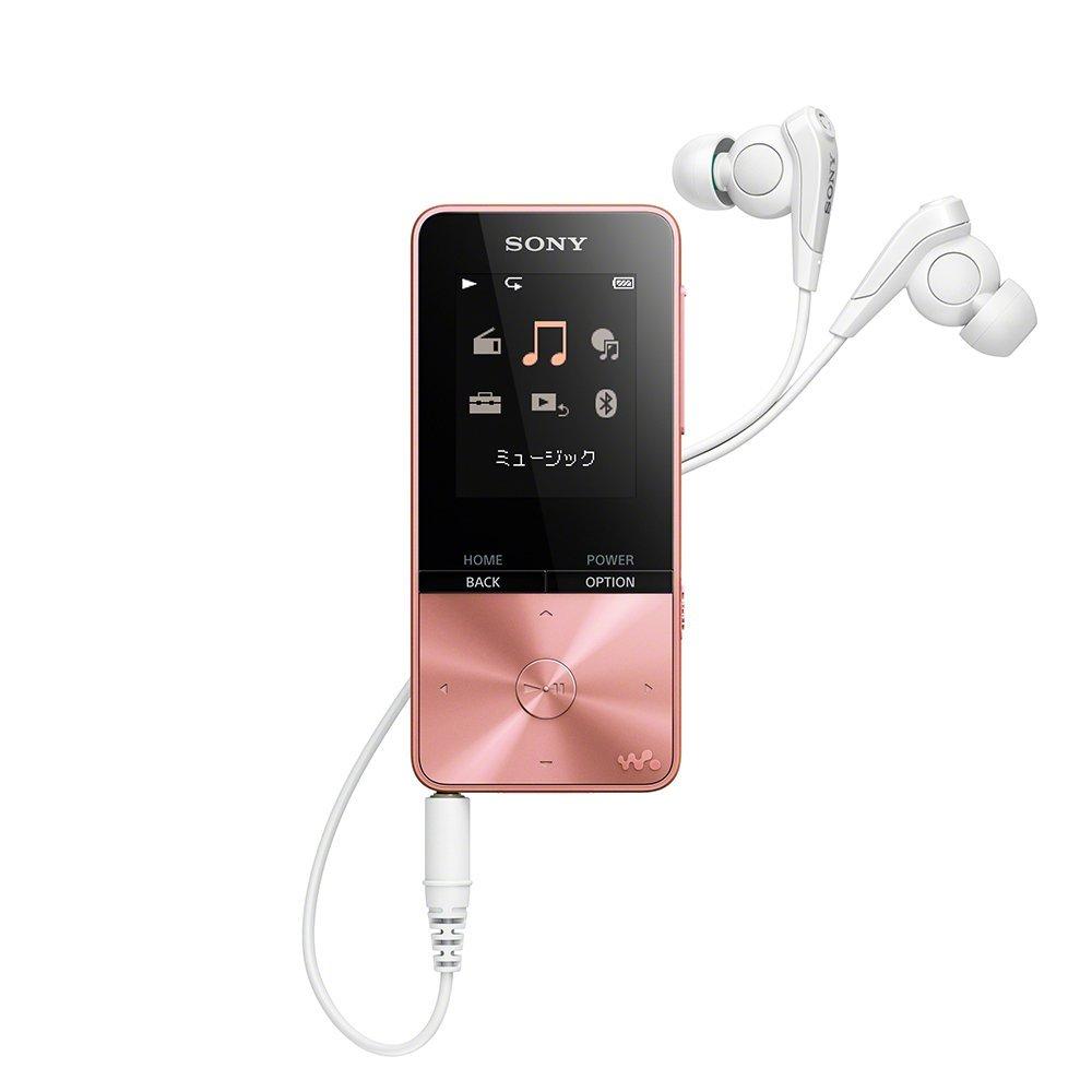 (予約受付中:1/25〜発送)SONY NW-S313-PI ライトピンク 4GB ソニー ウォークマン イヤホン付属 Bluetooth対応 [NWS313PI]