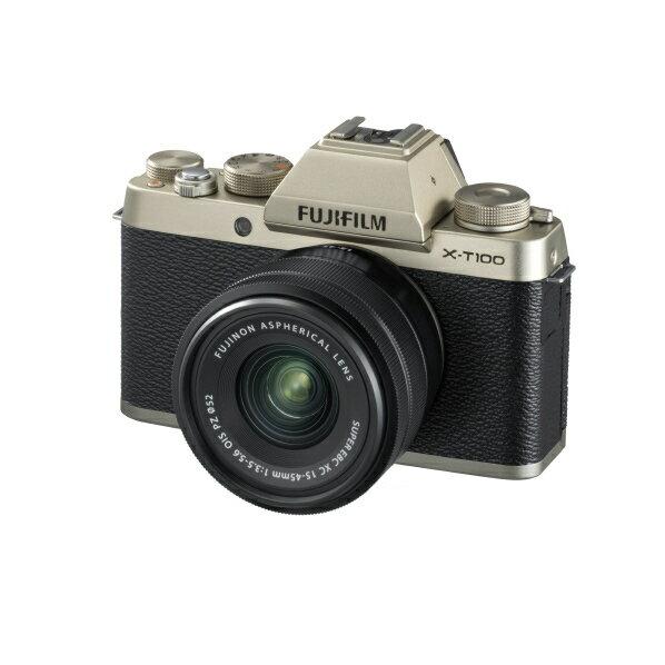 (お取り寄せ)富士フイルム デジタル一眼カメラ・レンズキット シャンパンゴールド FXT100LKG