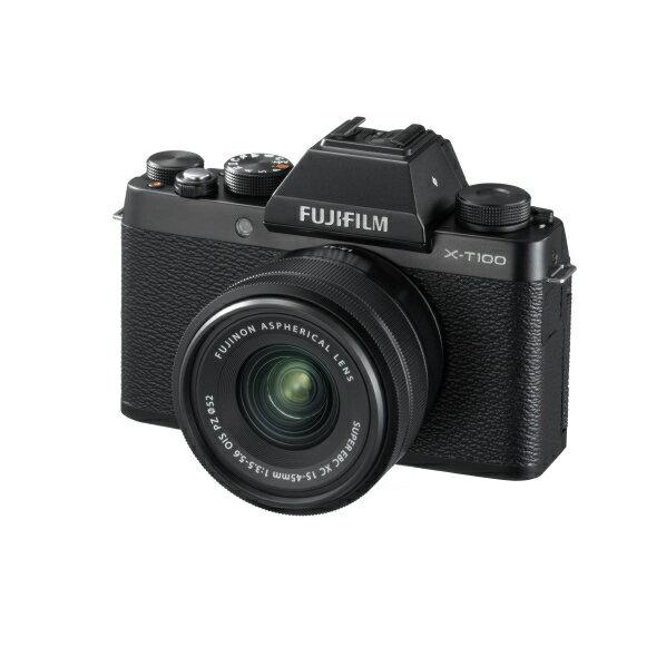 (お取り寄せ)富士フイルム デジタル一眼カメラ・レンズキット ブラック FXT100LKB