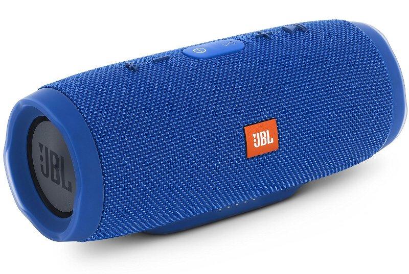 (お取り寄せ)JBL CHARGE3 Bluetoothスピーカー IPX7防水機能 パッシブラジエーター搭載 ポータブル/ワイヤレス対応 ブルー JBLCHARGE3BLUEJN