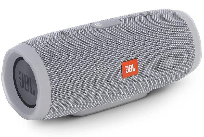(お取り寄せ)JBL CHARGE3 Bluetoothスピーカー IPX7防水機能 パッシブラジエーター搭載 ポータブル/ワイヤレス対応 グレイ JBLCHARGE3GRAYJN