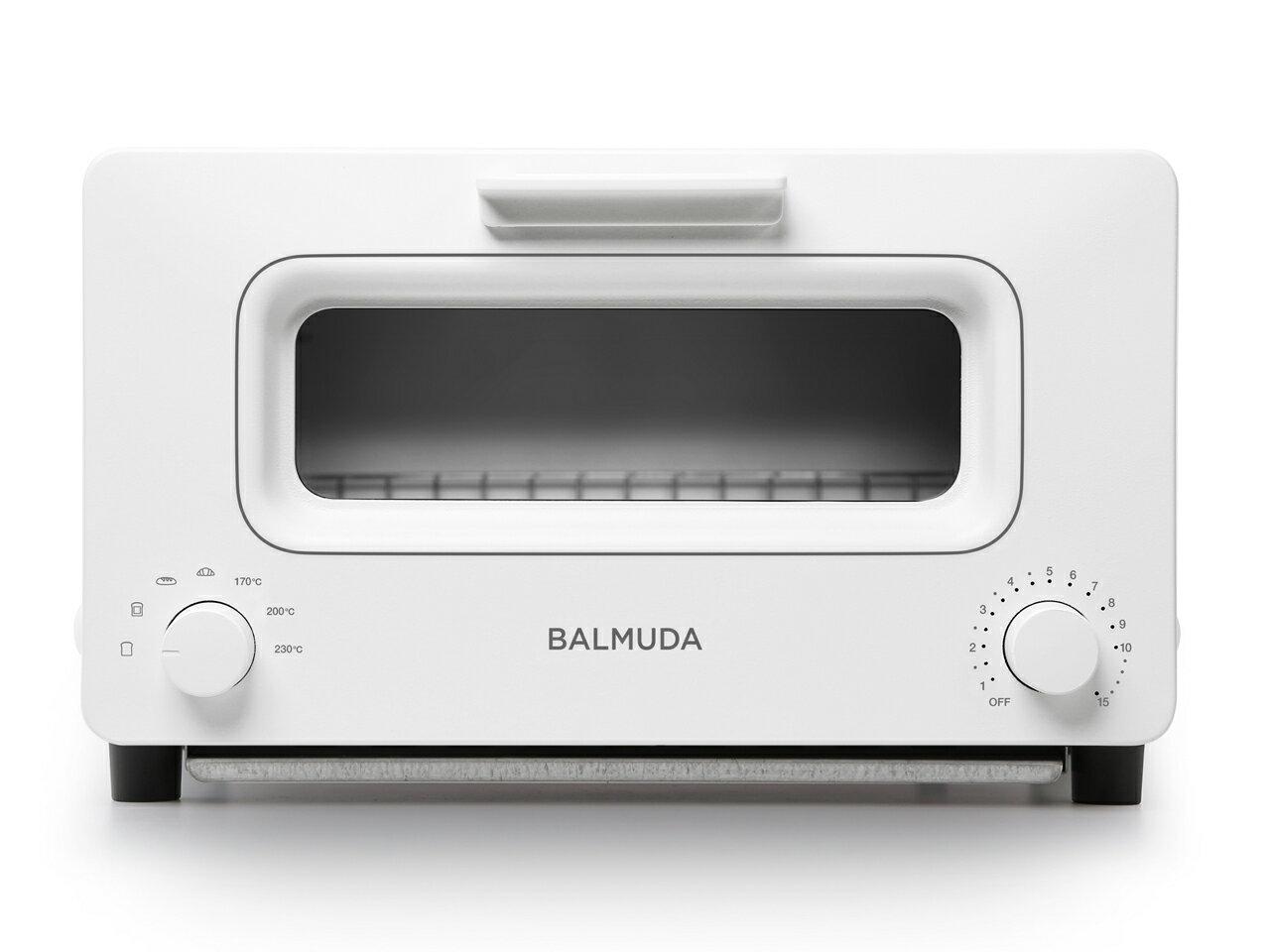 (在庫あり:5/24入荷予定)バルミューダ K01E-WS スチームオーブントースター(ホワイト)「BALMUDA The Toaster」
