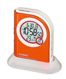 (お取り寄せ)CASIO 置き時計 DQD-410J-4JF オレンジ/電波時計