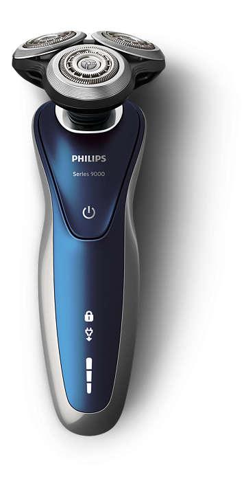 (お取り寄せ)PHILIPS(フィリップス) メンズシェーバー(ブラック/シルバー)PHILIPS 9000シリーズ ウェット&ドライ S9732/33