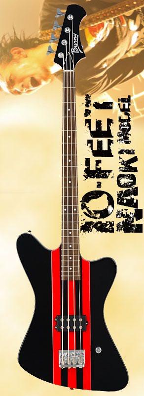 (お取り寄せ)BURNY NAOKI THLINES RED バーニー エレキベース 10 FEET NAOKI MODEL KABLIAR
