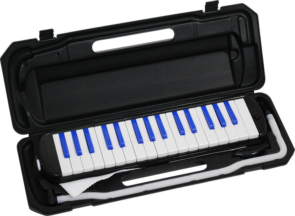 キョーリツ 鍵盤ハーモニカ メロディーピアノ P3001-32K/BLACK/BLUE MELODY PIANO P300132K BK/BL ブラック/ブルー※ドレミシール付き