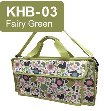 キョーリツ 鍵盤ハーモニカ用バッグ KHB-03 Fairy Green KC P3001-32Kに最適♪おどうぐ箱持ち運び用としても!