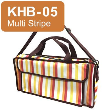 キョーリツ 鍵盤ハーモニカ用バッグ KHB-05 Multi Stripe KC P3001-32Kに最適♪ おどうぐ箱持ち運び用としても!