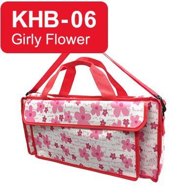 (お取り寄せ) キョーリツ 鍵盤ハーモニカ用バッグ KHB-06 Girly Flower KC P3001-32Kに最適♪おどうぐ箱持ち運び用としても!