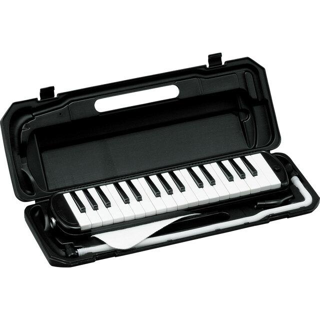 (在庫あり)(ポイント5倍)キョーリツ 鍵盤ハーモニカ P3001-32K/BK(ブラック) P300132K BKメロディーピアノ※ドレミシール付き