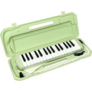 (お取り寄せ)キョーリツ 鍵盤ハーモニカ メロディーピアノ P3001-32K/UGR(ライトグリーン)*ドレミシール付き! MELODY PIANO P300132K UGR