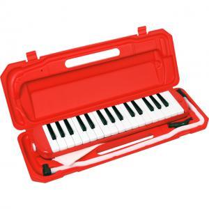 (お取り寄せ)キョーリツ 鍵盤ハーモニカ/メロディーピアノ P3001-32K/RD レッド MELODY PIANO P300132K RD ドレミシール付き