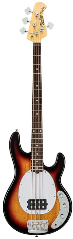 Sterling by MUSIC MAN RAY24CA 3 Tone Sunburstスターリン・バイ・ミュージックマン初期型スティングレイのボディ・デザイン